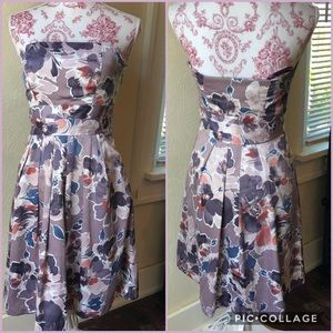 The Limited Strapless Floral Dress Sz 0